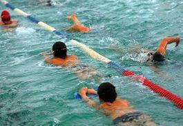 Foto van training wedstrijdzwemmers